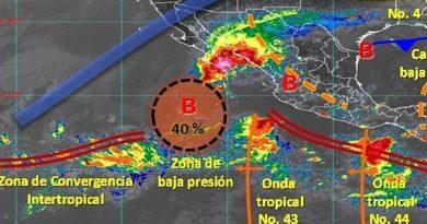 Zona de baja presión en BCS disminuye su potencial de ciclón