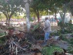 Limpian parque de la colonia Infonavit; sacaron 2 ton de basura