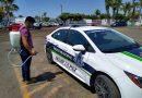 Sanitizan unidades de la policía municipal