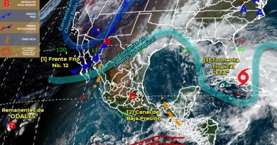 Ingresa Frente Frío numero 12 en el norte de BCS, ocasionará descenso de temperaturas