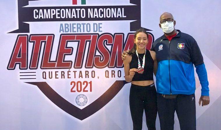 Conquista Valeria Gonzalez el bronce en nacional de atletismo
