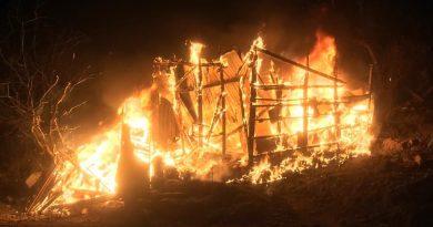 Se incendia casa de madera en la colonia Flores Magón