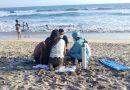 Rescatan a mujer que se estaba ahogando en playa Cerritos