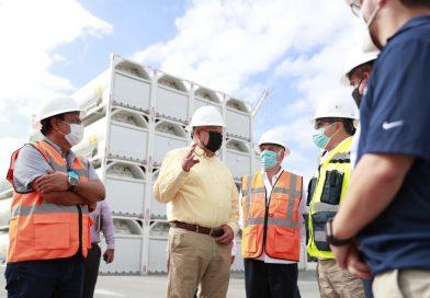 Supervisa Víctor Castro la planta de gas natural New Fortress Energy
